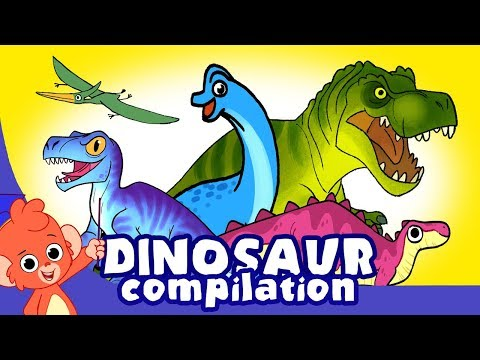 Learn Dinosaurs for Kids Scary Dinosaur movie Compilation t rex Triceratops