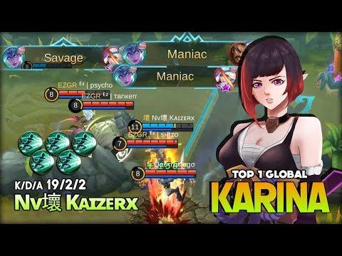 Xxx Mp4 1 Savage 2 Maniac Aggressive Gameplay Karina By Nv壞 Kᴀɪzᴇʀx Top 1 Global Karina Mobile Legends 3gp Sex