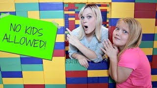 PARENTS ONLY Giant LEGO FORT! No Kids Allowed