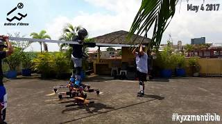 Manned Drone Multicopter hoverboard First Flight