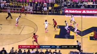 First Half Highlights: Maryland at Michigan | Big Ten Basketball