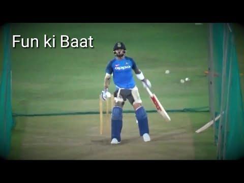 Angry Virat kohli batting practice before first t20 India Vs Australia 2017.