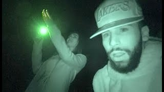WE SAW A GHOST!! (VISITING HAUNTED HOUSE)