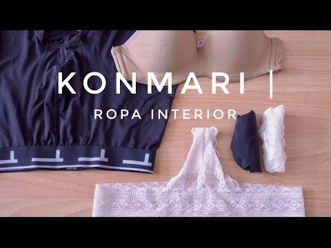 Cómo doblar ropa interior Método KonMari por Marie Kondo
