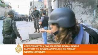 Brazil police claim victory over Rio drug gangs