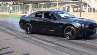 Wreckless drifting gone wrong Dodge Charger crash after car show!