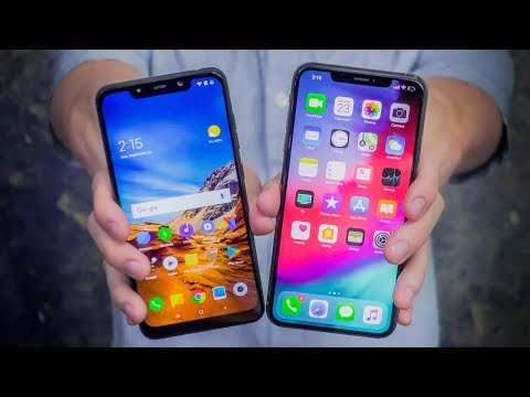 400 Pocophone F1 vs 1100 iPhone XS Max