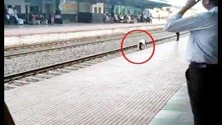 दौड़ते हुए ट्रेन के आगे युवक ने लगाई छलांग, फिर जो हुआ उसे देखकर चौंक जायेंगे आप