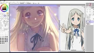 Speedpaint (Paint Tool SAI) 本間 芽衣子 Ano Hana Fan Art