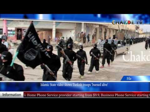 Islamic State video shows Turkish troops 'burned alive'