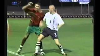 Ronaldo and Quaresma vs England Sub21