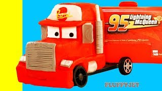 Lightning McQueen Mack Truck Disney Cars 3 Play Doh Stop Motion kids song video