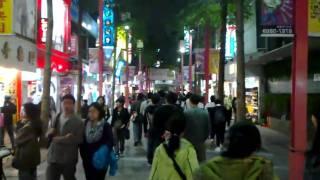 Walking in Ximending, Taipei.