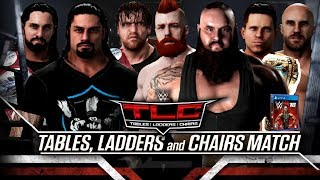 WWE 2K18 TLC 2017 - The Shield vs Braun Strowman, Miz, Cesaro & Sheamus Match!