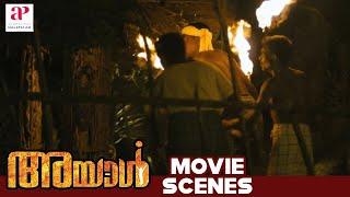 Ayal Malayalam Movie | Scenes | Protestors Putting House on Fire  | Lal | Lena | Iniya
