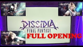Dissidia Final Fantasy Japan Arcade Complete Opening Movie