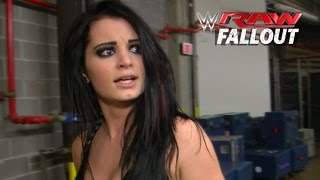 Angry Paige - Raw Fallout - January 12, 2015