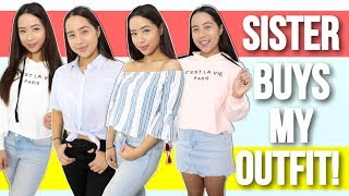 MY SISTER BUYS MY OUTFIT CHALLENGE! Zaful Try-On Haul 2017! | Caleon Twins
