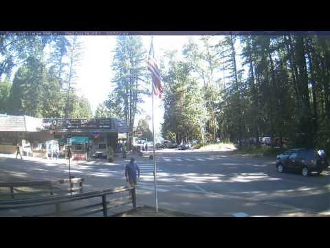 Timelapse from webcam at Glacier National Park, Apgar Village Visitor Center, 2013-08-14