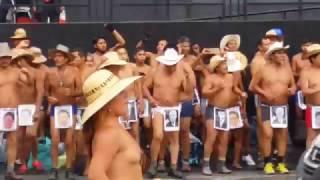 Mexican nude dancer protestor