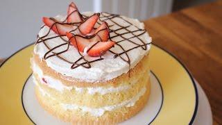 3 Ingredient Sponge Cake Recipe | sweetco0kiepie