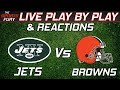 New York Jets vs Cleveland Browns   Live Play-By-Play & Reactions