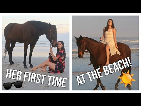 Riding My Horse On The Beach For The First Time