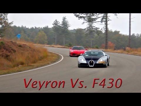 Bugatti Veyron Vs. Ferrari F430! - 0-240km/h Acceleration! & 250+ Flyby's! - 1080p
