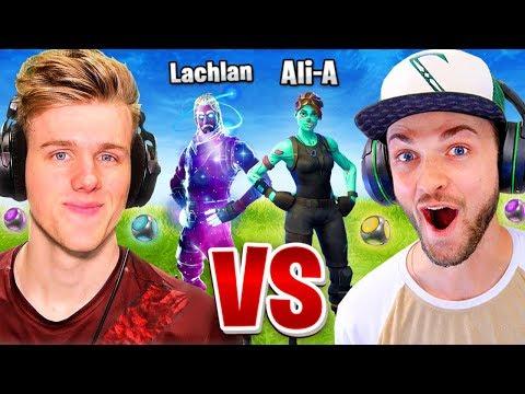 Ali A vs Lachlan Fortnite 1vs1 Port A Challenge