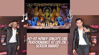Shahrukh Khan Yo Yo Honey Singh's Live Performance at LOS Awards 2014