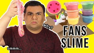 100% HONEST! REVIEWING MY FANS SLIME!!! 💦