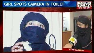 Woman finds hidden camera inside wash room at petrol pump