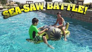 SEA-SAW BATTLE!!! Swimming Pool Challenge FUN!
