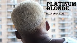 How To: Black to Platinum Blonde Hair For Men/Women (Step by Step Tutorial) || Marilyn A.