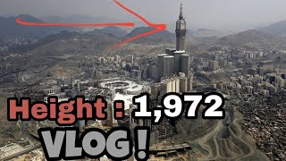 Makkah Tower Clock Top Floor View with Drone