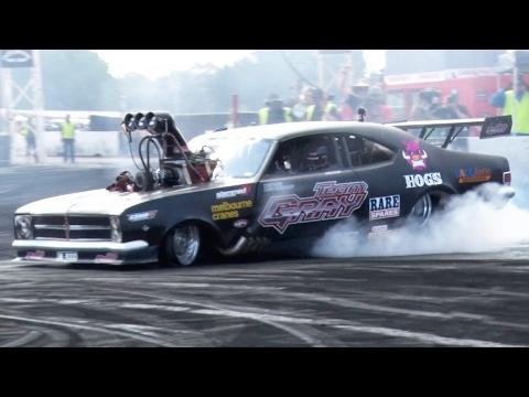 8 000 Horsepower TOP FUEL Burnout Car