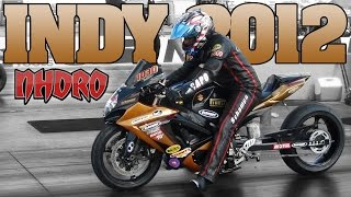 NHDRO 4: Indy, Friday Test & Tune motorcycle drag racing video 2012