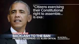 Former President Obama, Other World Leaders Oppose Trump Travel Ban