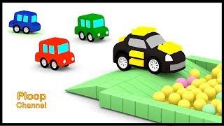 Cartoon Cars - GOLD CRIMINAL CAR! - Cars Cartoons for Children - Childrens Animation Videos for kids