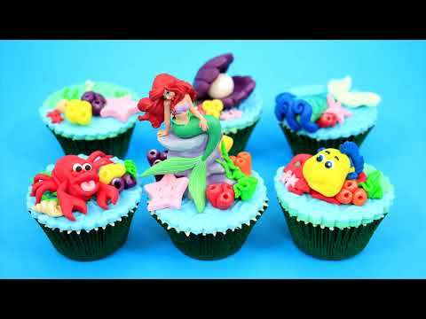 Ariel Princess The Little Mermaid Under the Sea Cupcakes How To Make by Cakes StepbyStep