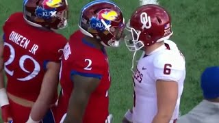 Baker Mayfield Vs. Kansas (No Handshake, Cheap Shot, Crotch Grab, Cursing, And More)