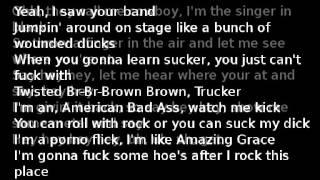 Kid Rock-American Bad Ass(lyrics)