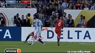 Argentine vs Chili (Messi yellow card) Copa Amirica 2016 full metch highlights HD.