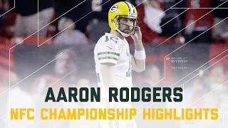 Aaron Rodgers Struggles!   Packers vs. Falcons   NFC Championship Player Highlights