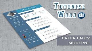 Word | Créer un CV moderne