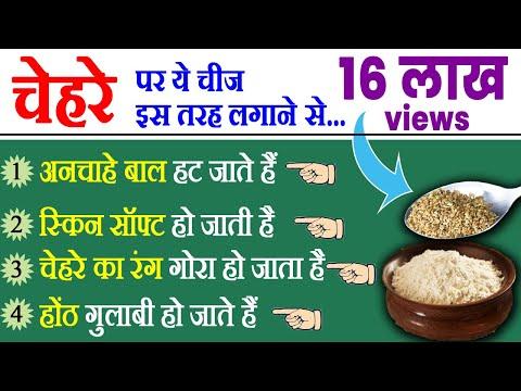 चेहरे के बाल हटायें - Remove Facial Hair Naturally - Beauty Tips in Hindi by Sonia Goyal