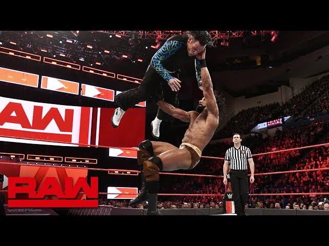 Jinder Mahal vs. Jeff Hardy - United States Championship Match: Raw, April 16, 2018