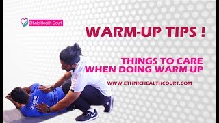 How to do Warm Up Exercise ? Gym Video | Fitness Tips In Malayalam | Ethnic Health Court