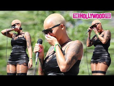 Amber Rose Breaks Down Crying Over Wiz Khalifa & Kanye West At Slut Walk - 10.3.15