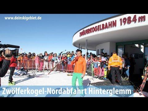 Zwölferkogel-Nordabfahrt im Skigebiet Saalbach Hinterglemm